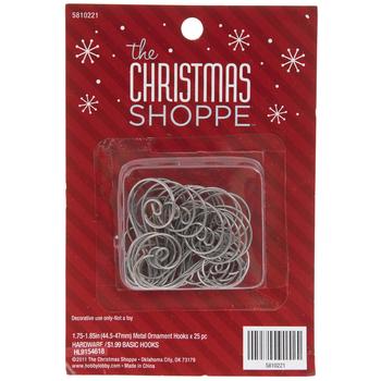 Silver Swirl Ornament Hooks