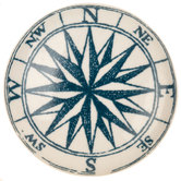 White & Blue Compass Knob