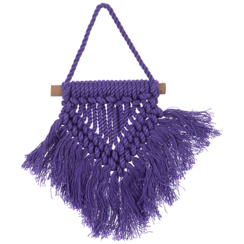 Purple Macrame Ornament