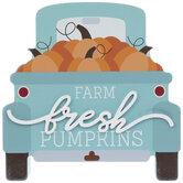 Farm Fresh Pumpkins Truck Wood Decor