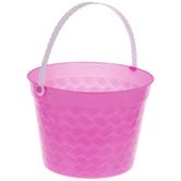 Bucket With White Handle