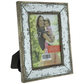 "Distressed Mirror Frame - 5"" x 7"""