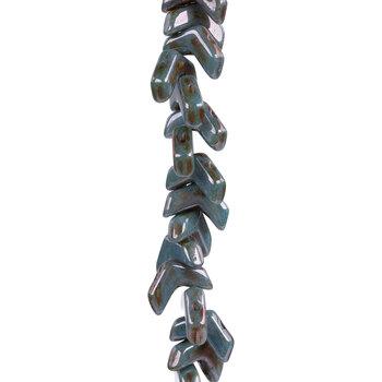 Chevron Duo Czech Glass Bead Strand