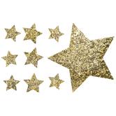 Star Glitter Iron-On Appliques