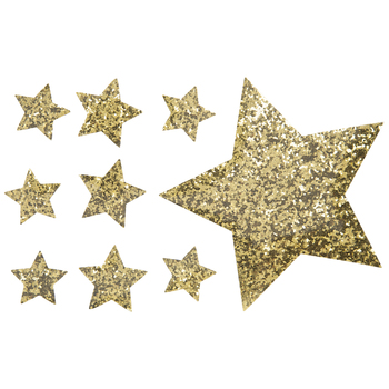 Star Glitter Iron-On Appliques