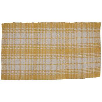 Yellow & White Plaid Rug