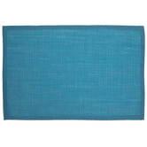 Bright Blue Woven Paper Placemat