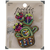 Beads & Sequins Cactus Pendant