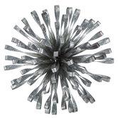 Silver Flower Galvanized Metal Wall Decor