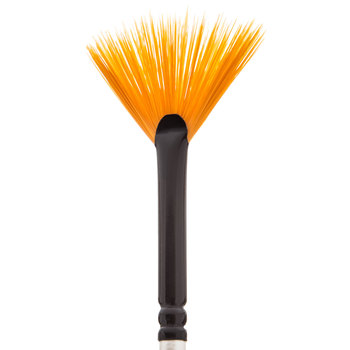 Premium Gold Taklon Fan Paint Brush