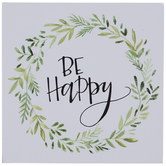 Be Happy Wood Decor