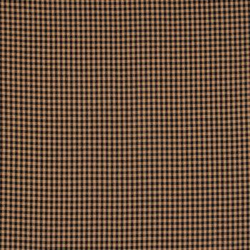 Black & Tan Homespun Check Cotton Calico Fabric