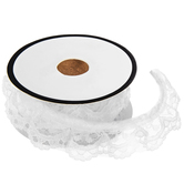 White Ruffled Lace Trim - 7/8""