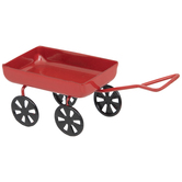Red Metal Wagon