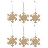 Blank Snowflake Ornaments