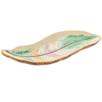 Exactly Where You Should Be Feather Jewelry Dish