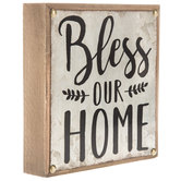 Bless Our Home Wood Wall Decor