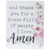 People I Love Amen Wood Magnet