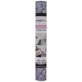 Purple Floral Glitter Iron-On Transfer