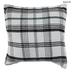 White, Black & Green Plaid Chenille Pillow