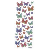 Watercolor Butterflies Puffy Stickers