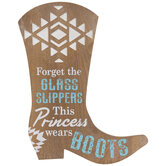 Princess Boot Wood Wall Decor