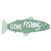 Gone Fishing Painted Wood Shape