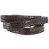 Black Floral Tooling Wrap Bracelet