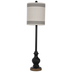 Black Ornate Swirled Lamp