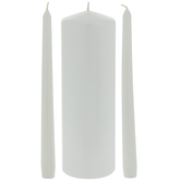 White & Pearl Unity Candles