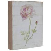 Pink Rose & Shiplap Wood Decor