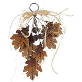 Oak Leaves & Bells Wood Wall Decor