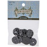 Black & White Polka Dot Buttons