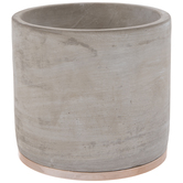 Gray & Metallic Flower Pot