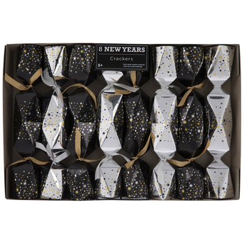 Black & Silver New Year Crackers