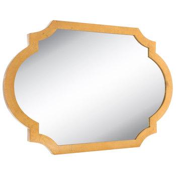 Gold Quatrefoil Wood Wall Mirror