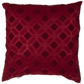 Red Geometric Pillow
