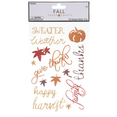 Glitter Fall Sayings Stickers