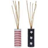 Stars & Stripes Wood Firecrackers