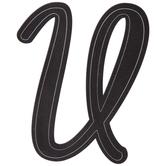 Black Letter Sticker - U