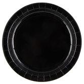 Black Paper Plates - Large
