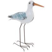 Blue & White Metal Seagull