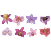 Purple Orchid Flower Embellishments