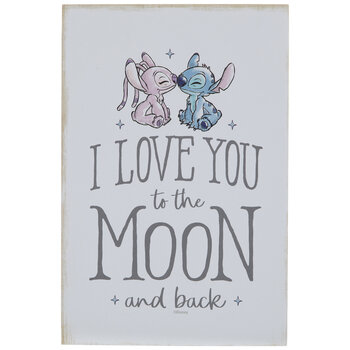 Lilo & Stitch I Love You Wood Decor