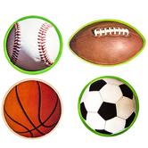 Sport Balls Paper Cutouts