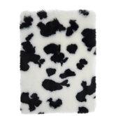 Cow Print Dense Faux Fur