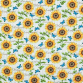 Sunflower Striped Duck Cloth Fabric