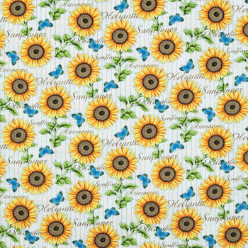 Sunflower Striped Duck Cloth Fabric