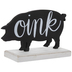 Oink Pig Silhouette Wood Decor