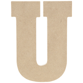 """Wood Letter U - 5"""""""